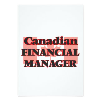 Canadian Financial Manager 13 Cm X 18 Cm Invitation Card