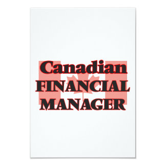 Canadian Financial Manager 9 Cm X 13 Cm Invitation Card