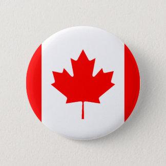 Canadian Flag 6 Cm Round Badge