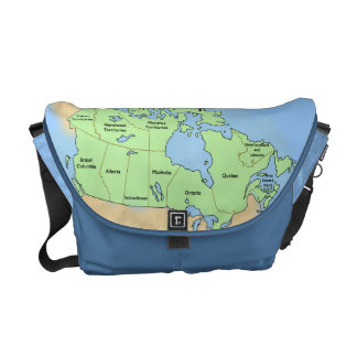 Canadian Flag and Map Commuter Bags