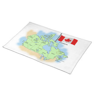 Canadian Flag and Map Placemat