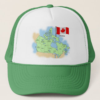 Canadian Flag and Map Trucker Hat