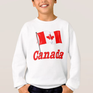 Canadian Flag and Text Sweatshirt