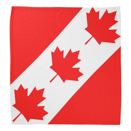 Canadian flag bandanna | Canada Day maple leaf