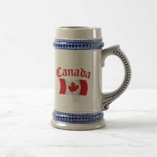 Canadian Flag Beer Stein