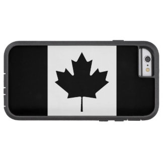 Canadian Flag Black And White Tough Xtreme iPhone 6 Case