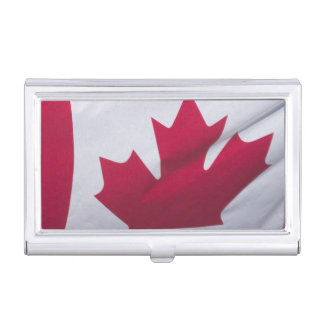 Canadian Flag. Business Card Holder