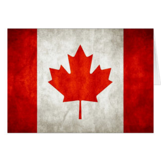 Canadian Flag Card