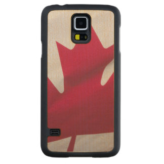 Canadian Flag. Carved Maple Galaxy S5 Case