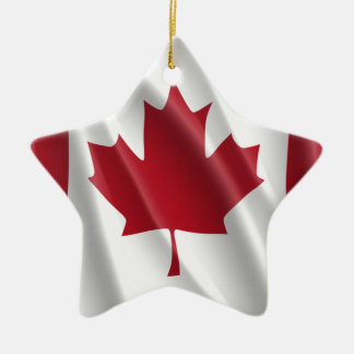 CANADIAN FLAG CERAMIC STAR DECORATION
