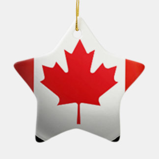 Canadian Flag Christmas Ornament