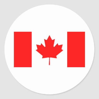 Canadian Flag Classic Round Sticker