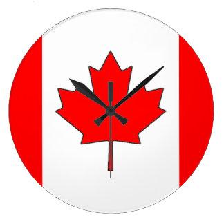 Canadian Flag Clock