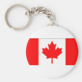 Canadian Flag design Basic Round Button Key Ring