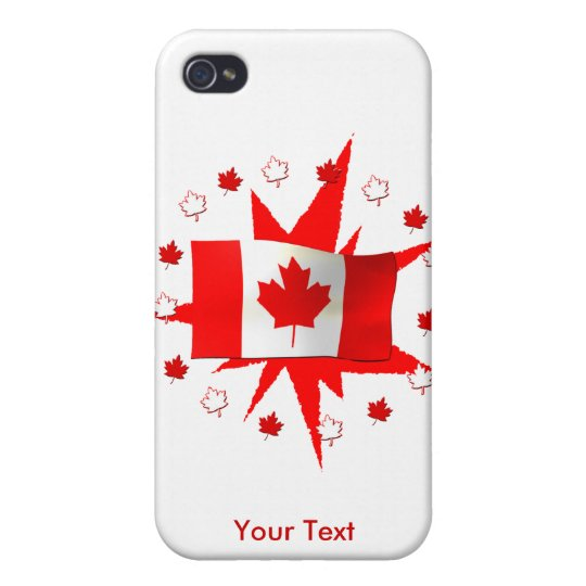 Canadian Flag Design iPhone 4 Cover