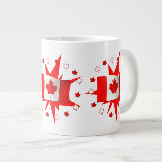Canadian Flag Design Jumbo Mug