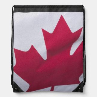 Canadian Flag. Drawstring Bag