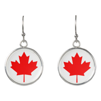 Canadian flag drop earrings for Canada Day party