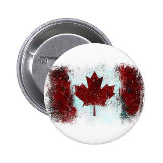 Canadian Flag Graffiti 6 Cm Round Badge