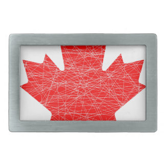 Canadian Flag Grunge Belt Buckle