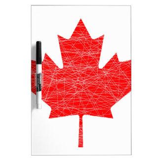 Canadian Flag Grunge Dry Erase Board