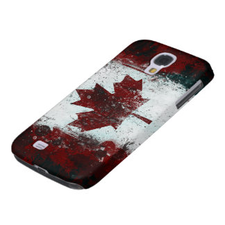 Canadian Flag grunge paint Galaxy S4 Case