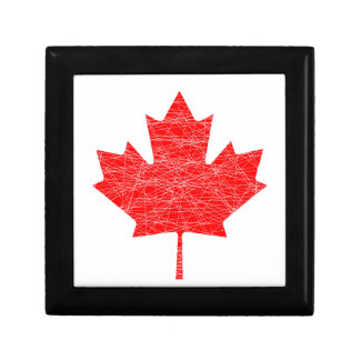 Canadian Flag Grunge Small Square Gift Box