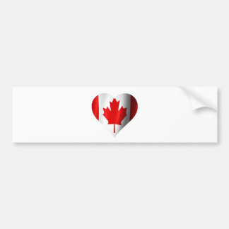 Canadian Flag Heart Bumper Sticker