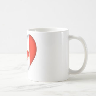 canadian flag heart design coffee mugs