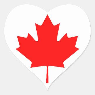 Canadian Flag (Heart) Heart Sticker