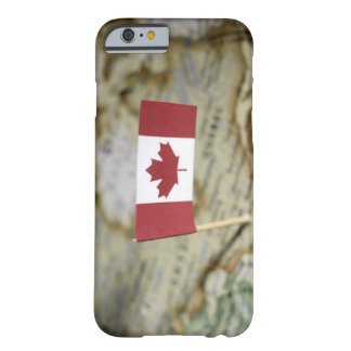 Canadian flag in map barely there iPhone 6 case