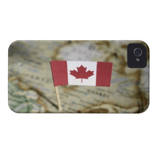 Canadian flag in map iPhone 4 Case-Mate case