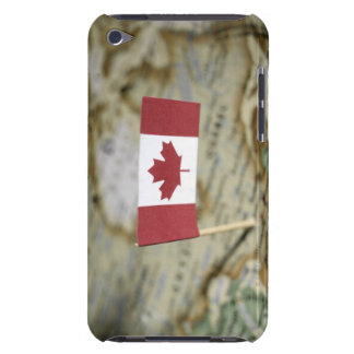 Canadian flag in map iPod touch case