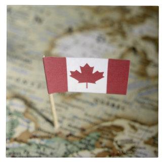 Canadian flag in map tile