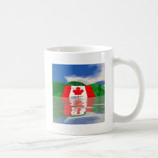 Canadian Flag Land Basic White Mug