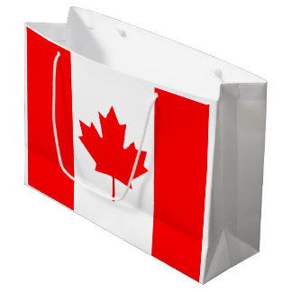 Canadian flag large gift bag