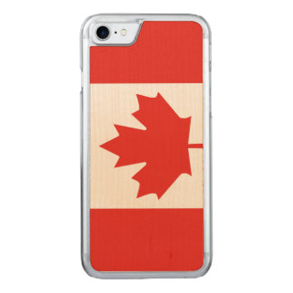 Canadian Flag Maple Leaf iPhone 7 Maple Wood Case