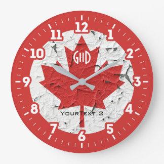 Canadian Flag Maple Leaf on a Wallclocks