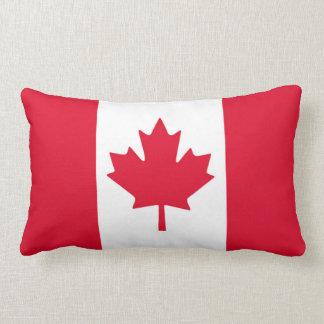Canadian Flag Maple Leaf Red White Canada Lumbar Cushion