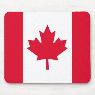 Canadian Flag Maple Leaf Red White Canada Mouse Mat