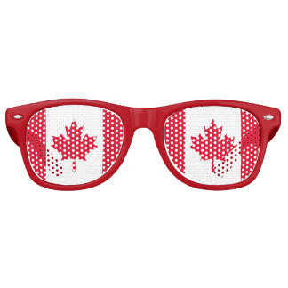 Canadian Flag Maple Leaf Red White Canada Retro Sunglasses