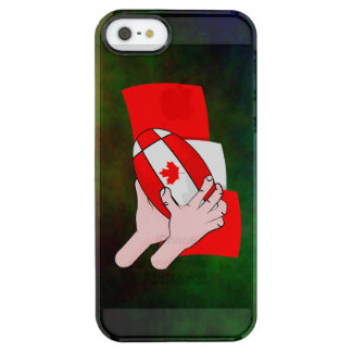 Canadian Flag Maple leaf Rugby Ball iPhone 6 Plus Case