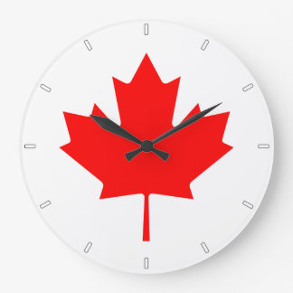 Canadian Flag Maple Leaf Wall Clock