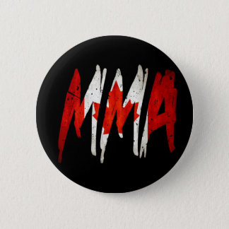Canadian Flag MMA 6 Cm Round Badge