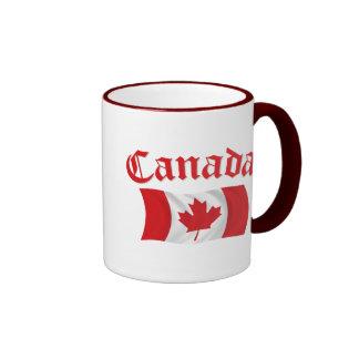Canadian Flag Ringer Mug