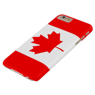 Canadian Flag of Canada Red Maple Leaf Barely There iPhone 6 Plus Case