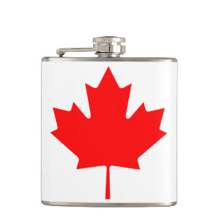 Canadian Flag of Canada Red Maple Leaf Flask