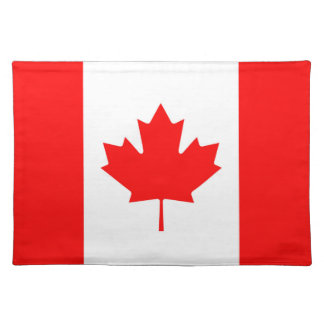 Canadian Flag of Canada Red Maple Leaf Placemat