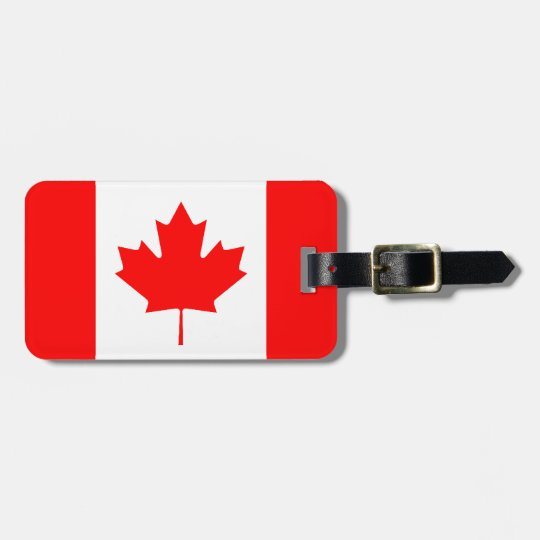 Canadian Flag Personalised Luggage Tag