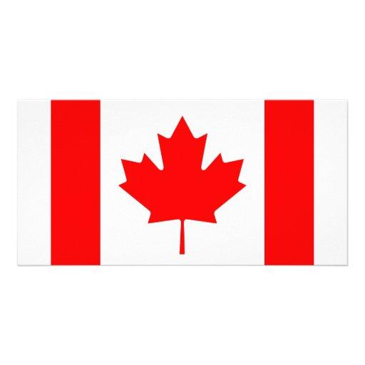 Canadian Flag Photo Card